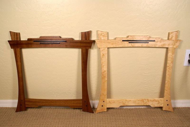 Greene Greene Mirror Frame on End Table Woodworking Plans