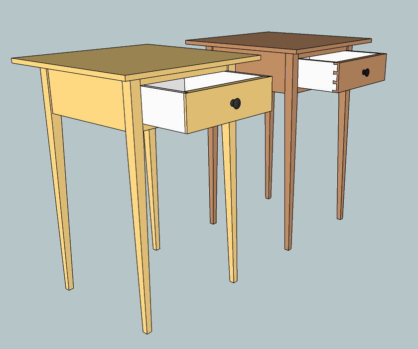Shaker end table designs plans diy free download how to for Latest side table designs