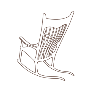 Maloof-Inspired Sculpted Rocking Chair