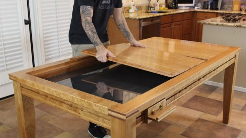 Gaming Dining Table - Elegant Gaming Table - The Wood Whisperer Guild