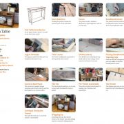 Sofa Table Course Schedule