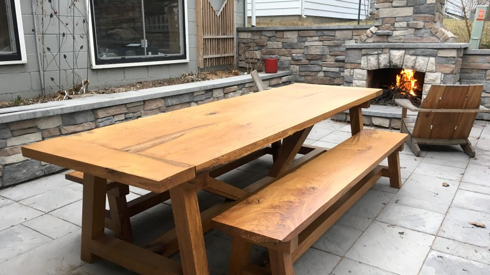 Fine Farmhouse Table Benches The Wood Whisperer Guild Alphanode Cool Chair Designs And Ideas Alphanodeonline