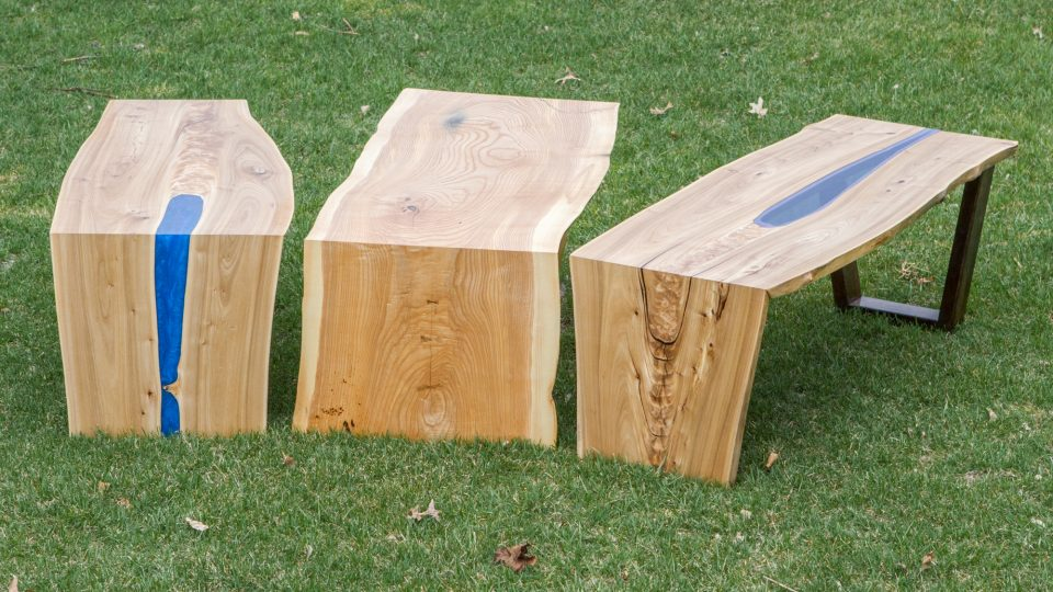 Waterfall Glass Resin Tables The Wood Whisperer Guild - Best Wood To Make A Live Edge Table